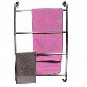 handtuchhalter f r die t r 4 stangen verchromtes metall k che haushalt. Black Bedroom Furniture Sets. Home Design Ideas