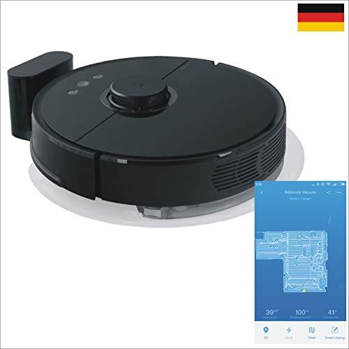ZINNZ SELECTED XIAOMI Saugroboter 2.te Generation EU Version Roborock S55 schwarz mit Wischfunktion App Control # 3 Jahre Garantie (schwarz)