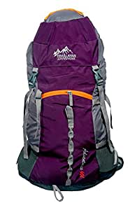 Himalayan Adventures 60 Ltrs Purple Backpack/Rucksack/Travelling Bag/Hiking Bag/Adventure Bag/Camping Bag (Nylon, HA-8111P)