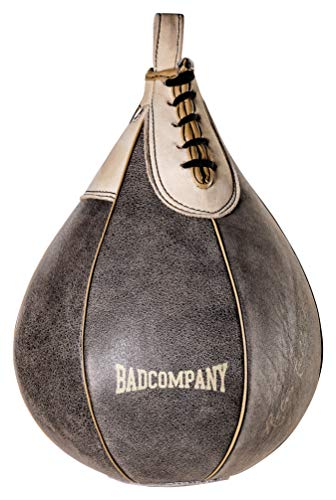 Bad Company Retro Rindsleder Boxbirne medium I Punching-Ball hängend