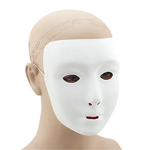 5Uni Gesichtsmaske, Unisex, weiß, One Size ()