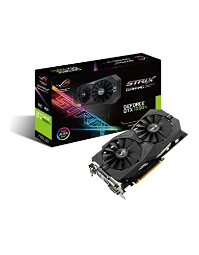 Asus ROG Strix-GTX1050TI-4G Gaming Nvidia GeForce Grafikkarte (PCIe 3.0, 4GB GDDR5 Speicher, HDMI, 2 x DVI-D, Displayport) (Geforce 200)