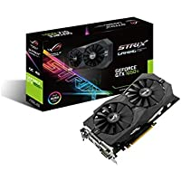 ASUS NVIDIA GeForce STRIX-GTX1050TI-4G-GAMING 4 GB GDDR5 128 Bit Memory HDMI/DP/DVI PCI Express 3 Graphics Card - Black