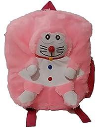 Pari Toys Pink Color School Bag For Kids, Travelling Bag, Picnic Bag, Carry Bag With Soft Material 15 Inch - B074CJ2GT9