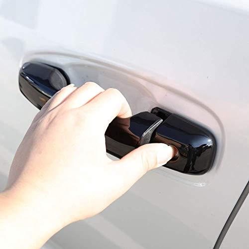 Accessoires de Voiture de Garniture de poignée extérieure de Porte en Plastique chromé ABS sans Trou Brillant Noir Brillant pour Prado FJ150 150 2018