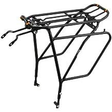 Ibera PakRak bicicleta Touring Carrier Plus + Carrier Rack IB-RA5(con freno de disco de montaje) frame-mounted para mayor parte superior y laterales cargas bicicleta carga estante