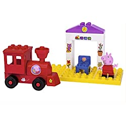 Big -800057072 - Peppa Pig - Jeu de Construction - Station Train de Peppa Pig - 15 Pièces