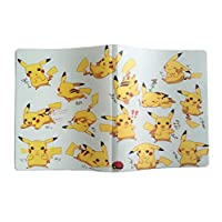 Pikachu Collection Cards Album Pokemon Cards Album Pokemon Novelty Gift Book List Playing Card Pokemon Cards Holder Album -Yellow