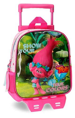 Trolls-Sac à dos crèche et maternelle avec charriot Trolls True Colors