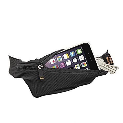 Gear Beast Running Belt Fanny Pack Waist Bag. ID, Key And Hydration Holder, Slim Adjustable Sport And Travel Pack Holds Cell Phones Including iPhone X 8 7 6s 6 Plus Galaxy S6 S7 Edge S8 Plus Note