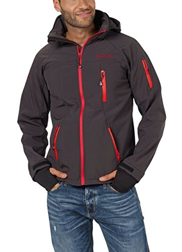 Fifty Five Herren Softshell-Jacke Outdoor-Jacken - Alert anthracite/red 6XL - FIVE-TEX Mem