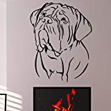 Removable Animal Wall Sticker Home Decor Living Room Self Adhesive Bordeaux Dog Wall...