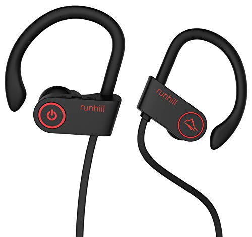 Runhill Bluetooth Kopfhörer in Ear,IPX7 8-Stunden-Spielzeit Wasserdicht Bluetooth Headphone Sport Noise Cancellation in Ear Bluetooth Kompatibe mit iOS Android Geräten mit Mikrofon U8