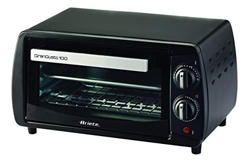 Ariete 980 Mini Horno 10 litros Gran Gusto, 800 W, Acero Inoxidable, Negro