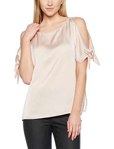 Dorothy Perkins Embellished Neck Cold Shoulder, Camicette Donna, White (Cream), 40
