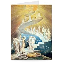 Jacob's Ladder by William Blake - Greeting Card (Pack of 2) - 7x5 inch - Art247 - Standard Size - Pack Of 2