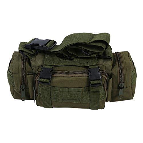 Foto de SODIAL(R) Nueva utilidad tactica paquete de la cintura bolsa Militar de excursion que acampa al aire libre del bolso Bolso - verde