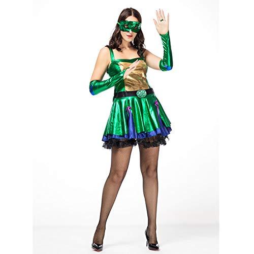 Sttsale Halloween Kostüm Mädchen, Ninja Turtle COS Kleid Halloween Charakter Kostüm Erwachsenen Bühnenkostüm Leistung Schießen