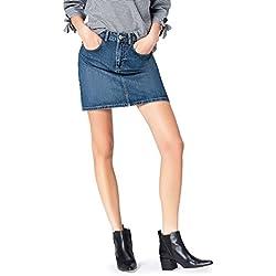 FIND Women's Skirt in Denim Mini Length