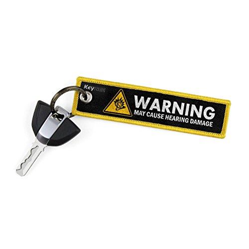 KeyTails Portachiavi, qualità Premium Key Tag per Moto, Auto, Scooter, ATV, utv [attenzione può causare Danni udito–Giallo]