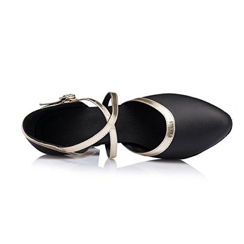 Miyoopark - Ballroom donna Black/Gold-7cm Heel