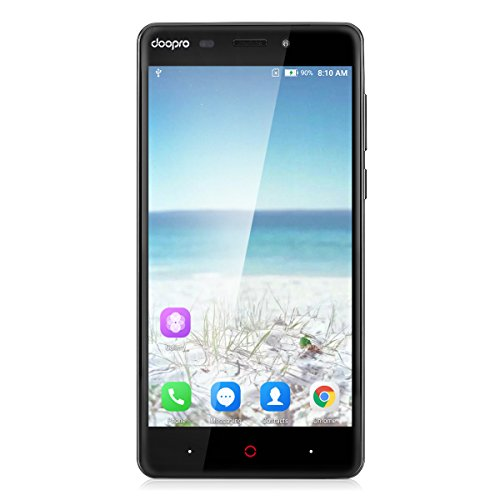 Doopro P1 Pro 4G Smartphone (Écran: 5.0'' HD - Android 6.0 (Marshmallow) MSM8909 - Quad Core - 2Go RAM - 16Go ROM - Dual SIM Dual Caméra - GPS Gestes intelligentes) - Noir