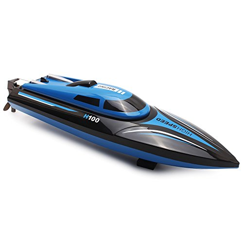 GBlife-H100-High-Speed-Romote-Control-RC-Boats-with-LCD-Screen-24GHz-4-Channels-2-Modes-Black-Blue