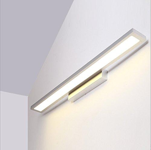 Wandlampe LED-Spiegel-Frontlicht-Badezimmer-Nordic-Spiegel-Kabinett-Verfassungs-Lichter Moderne Einfachheit-Spiegel-Abrichten-wasserdichte Badezimmer-Wand-Lampe (größe : B-60cm*4cm)