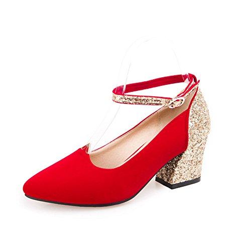 Rosso Colori Assortiti Glitters Smerigliato shoes Pompe Balamasa Signore Eq75Y