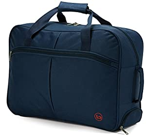 Benzi Small 50cm Wheeled Holdall Hand Luggage Cabin Bag Ryanair Easyjet Blue