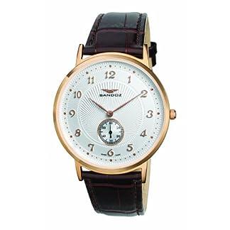 Sandoz 81271-60 – Reloj de Caballero de Cuarzo, Correa de Piel Color marrón