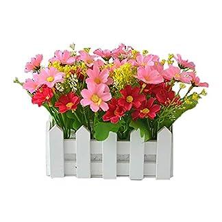 Vi.yo 1 Pcs Flores Artificiales Decorativas Planta en Maceta Falso Bonsai Verdor Simulacion Arbol con Cerca 16cm*8.5cm*17cm, 1