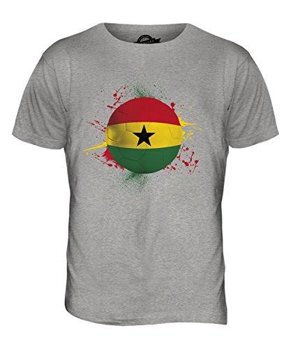 CandyMix Ghana Fußball Herren T Shirt Grau Meliert