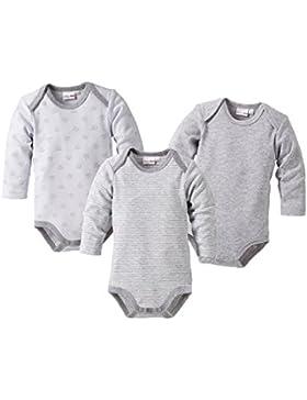 Bornino Body langarm (3er-Pack) / Basics Baby Kleidung / 100% Baumwolle/Druckknöpfe / Schlupfkragen