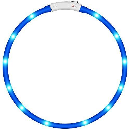 KEKU LED Collar de Perro de Mascota, llevó USB Recargable Collar de Seguridad...