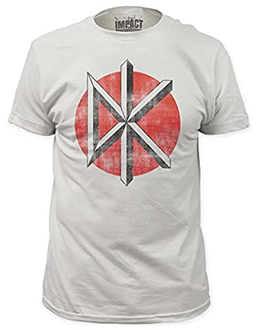 Dead Kennedys Punk Rock Band Distressed Logo Adult Fitted Jersey