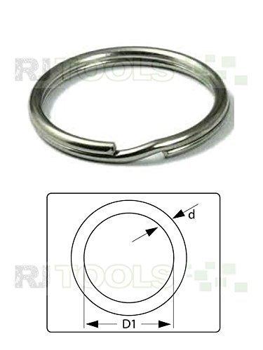 100 Stück Schlüsselringe 25 mm Stahl Schlüsselring Glänzend NEUWARE TOP-ANGEBOT ( 933512 )