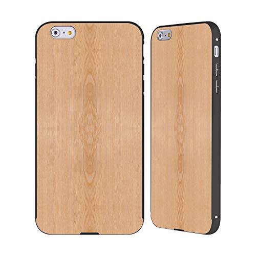 Head Case Designs Offizielle PLdesign Helles Braunes Korn Holz Und Rost Drucke Schwarz Rahmen Hülle mit Bumper aus Aluminium für iPhone 6 Plus/iPhone 6s Plus (Aus 6 Holz-korn Case Iphone)