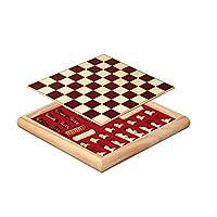 Philos-2803-Schach-Dame-Set-beidseitig-bedrucktes-Brett-mit-Holzbox
