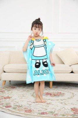 MiGMV Kinder Handtuch, Baumwolle cartoon Wasser aufsaugen und Eindickung Gap und Strandtuch, Lake blue Alice 85-110 cm Alice Blue Gown
