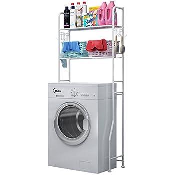 Mensola per lavanderia 160 x 53 cm scaffale per WC//lavanderia//lavatrice bagno a 3 ripiani