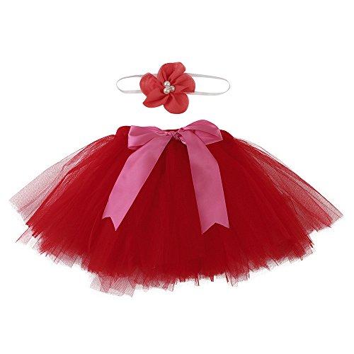 Tutu Puff Röcke Tüllrock Prinzessin Festkleid Hochzeit Kleid Festzug Urlaub Kleider Foto Prop Jubiläum Kleidung 0 ~ 4 Monat (B) (3 Monat Altes Halloween Kostüm)
