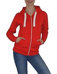 S&LU angesagte Damen Kapuzen-Sweatjacke in tollen leuchtenden Farben Größe S-XL