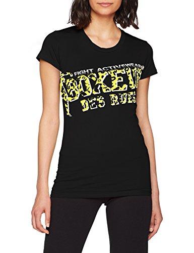 BOXEUR DES RUES Damen BXT-2845 Hemd Mit Rundhalsausschnitt, Schwarz, M (T-shirt-damen-schwarz-boxer)