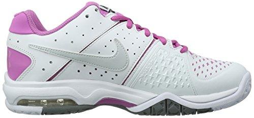 NIKE Air Cage Advantage, Chaussures de tennis femme Blanc - Weiß (White/Pr Pltnm-Rd Vlt-Cl Gry)
