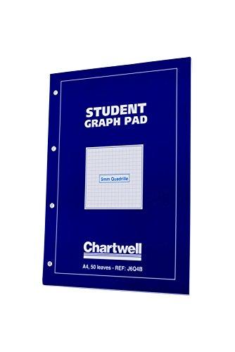 Chartwell Graphen-Block A4 70 g/m² 5 mm kariert 50 Blatt blauer Deckel