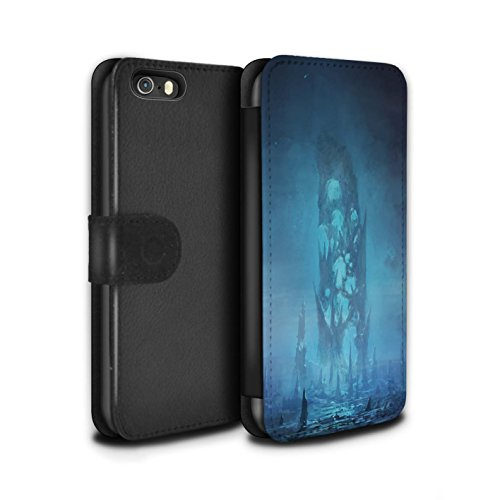 Offiziell Chris Cold PU-Leder Hülle/Case/Tasche/Cover für Apple iPhone SE / Planet/Mond Muster / Fremden Welt Kosmos Kollektion Rest