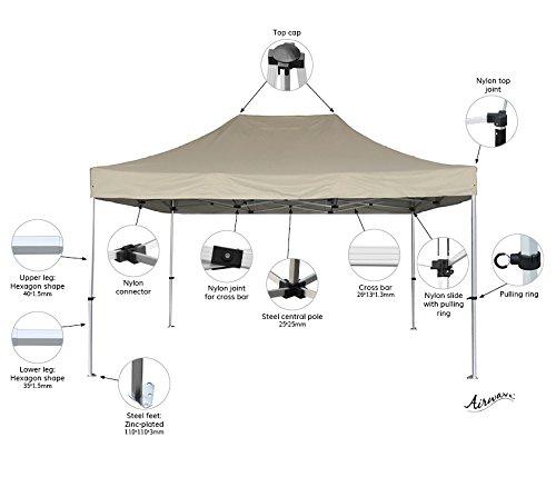 Gewerbliche Vier (Airwave Vier Jahreszeiten gewerblichen Plus Garten Pop-Up-Pavillon keine Seiten–verschiedene Optionen (3x 4,5m, Beige))