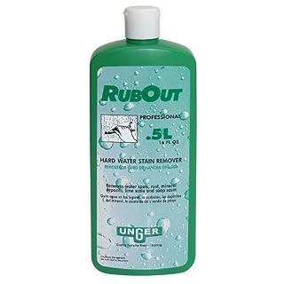 Glasreiniger Unger Rub Out, Kalkentferner, 0,5 L professioneller Glasreiniger gegen hartnäckige Rückstände
