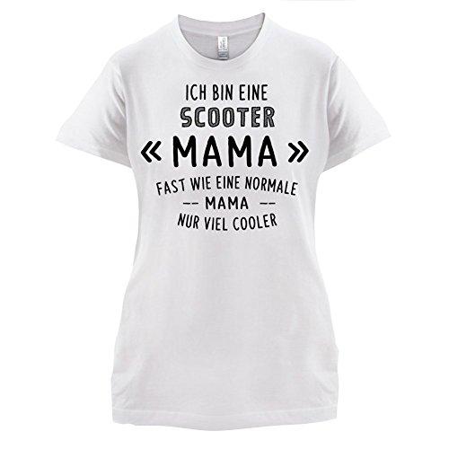 Ich bin eine Scooter Mama - Damen T-Shirt - 14 Farben Weiß